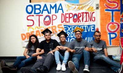 Latino youth protesting Obama administration immigration policy
