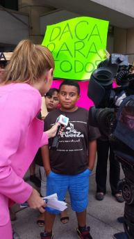 boy with reporter
