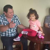 valeria with dad